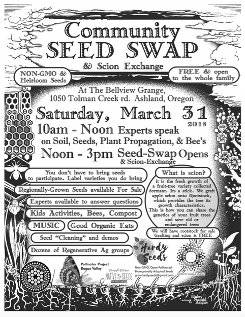 Community Seed Swap March 31 2018